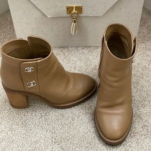 Authentic Chanel CC Ankle Boots